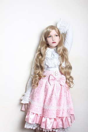 light pink SpreePicky skirt - white Bodyline blouse