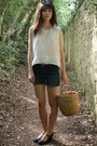 Black-mary-jane-new-yorker-shoes-blue-denim-new-yorker-shorts-h-m-sunglasses