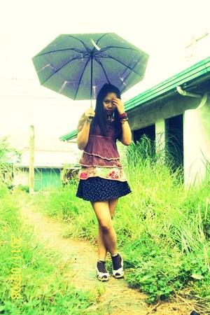 blouse - diy skirt