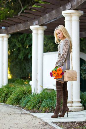 Hale Bob dress - Chanel bag