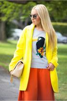 Zara coat - Chanel bag - H&M skirt