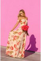 peach Reformation dress