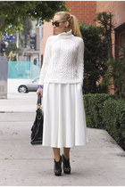 Zara sweater - balenciaga bag - asos skirt