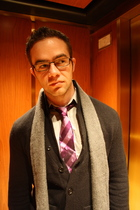 black Gucci glasses - gray Givenchy scarf - black Urban Outfitters cardigan - gr