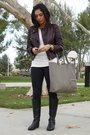 Black-ck-boots-black-leggings-white-t-shirt-brown-truth-and-pride-jacket