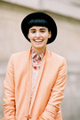 Peach-the-kooples-jacket-jeffrey-campbell-boots-black-karlmarcjohn-hat