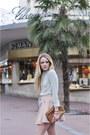 Light-pink-zara-skirt-mango-sunglasses-nude-steve-madden-heels