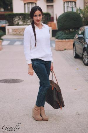 J Brand jeans - Club Monaco sweater - Louis Vuitton bag