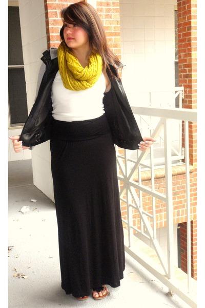 Black Maxi Skirts, Black Leather Jackets, Olive Green Knit Scarves ...