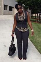 gray pinstripe NY&CO vest