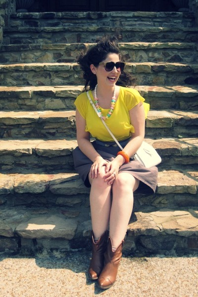 neon Zara shirt - vintage my moms candy necklace necklace