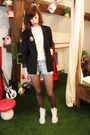 Black-h-m-blazer-white-zara-shirt-black-dim-tights
