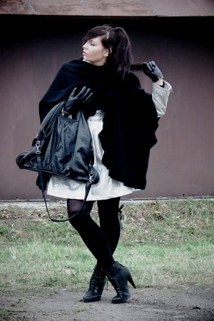 black asos boots