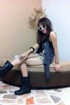 black high cut boots Madden Girl boots - black Just G accessories