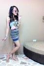 Navy-forever21-top-blue-nollie-skirt-gold-forever21-sandals