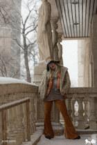 burnt orange velvet LENNI THE LABEL pants - burnt orange LENNI THE LABEL jacket