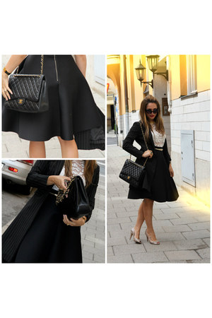 Chanel bag - Chanel flats - H&M skirt