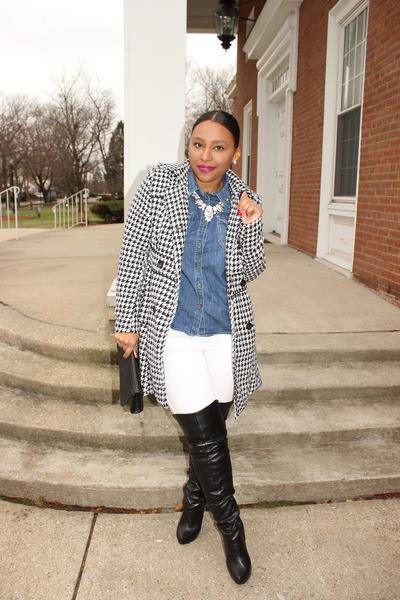 a17e826a7e2303 joyce leslie coat - Forever 21 boots - H M jeans - Target top