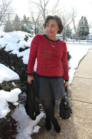 Stylesforless sweater - JustFab bag - H&M skirt