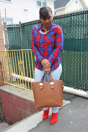 Rocksbox accessories - Target shirt - JustFab bag - Shoedazzle wedges