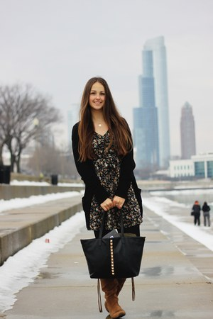 Primark dress - kohls boots - Forever21 bag