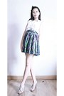 Esprit-top-multicolored-skirt-skirt