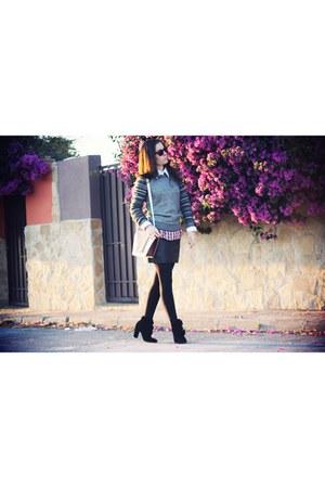 black Claudie Pierlot boots - heather gray Bimba&Lola sweater