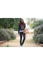 Cortefiel T shoes - modcloth jacket - Urbaks bag - vintage sunglasses