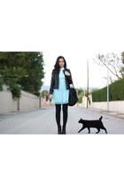 aquamarine vintage dress - black Zara jacket