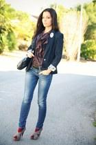 Zara jacket - Fornarina jeans - Vero Moda shirt - Nina Ricci bag
