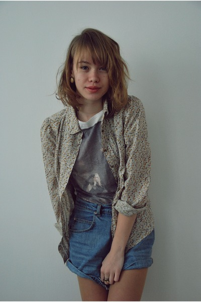 Pimkie shirt - thrifted vintage shorts - pull&bear t-shirt