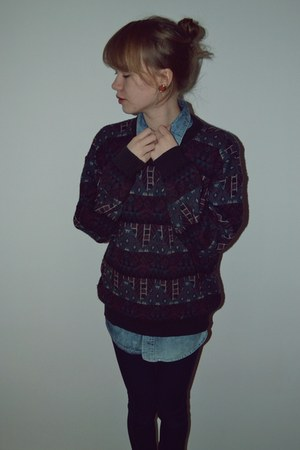 vintage jumper - charity shop shirt
