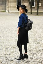 Zara shoes - second hand jacket - Zara cardigan - Mango pants