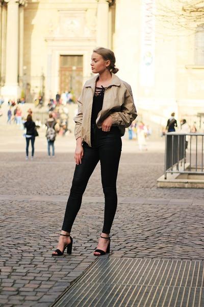 second hand jacket - H&M blouse - Stradivarius heels