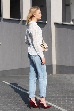 calvin klein jeans - white Mango shirt - Zara bag - Topshop heels