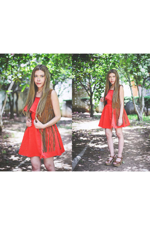 red red romwe dress