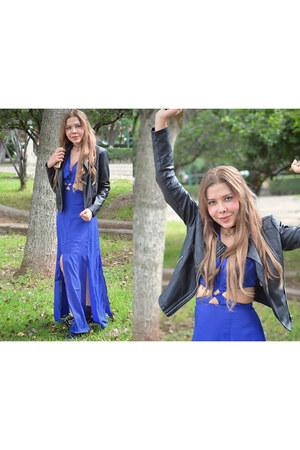 blue cut out Sheinside dress