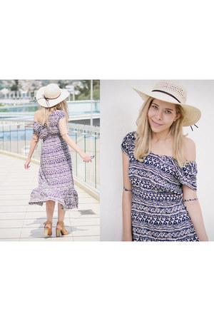 navy maxi dress romwe dress