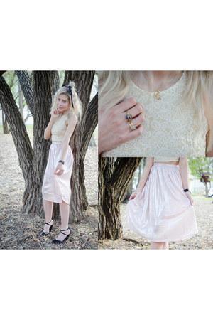 off white Forever 21 top - light pink Forever 21 skirt