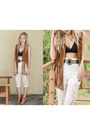 White-lace-romwe-leggings-burnt-orange-zara-vest