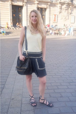 black Givenchy bag - black Isabel Marant skirt - black ASH sandals