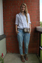Cubus top - Zara jeans - vintage bag - TrendExpress sandals - Cubus blouse