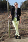 Neon-topshop-jeans-second-hand-blazer-zara-blouse