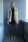 Dusty-pink-bershka-jacket-leopard-print-tk-maxx-leggings-winged-backpack-bag