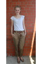 Promod pants - Bik Bok top - reserved earrings - tasseled loafers