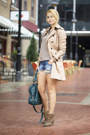 Zara coat - Joes Jeans boots - Zara sweater - Zara shorts
