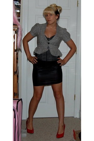 blazer - Entry top - skirt - shoes
