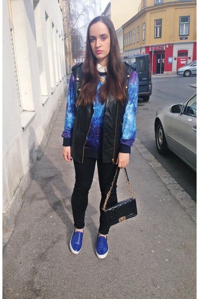 galaxy Sheinside sweatshirt - Aliexpress bag - romwe accessories