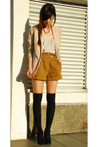 Forever 21 blazer - Topshop shorts - Urban Outfitters top