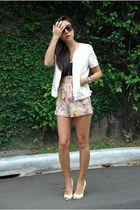 Zara jacket - H&M shorts - Zara pumps